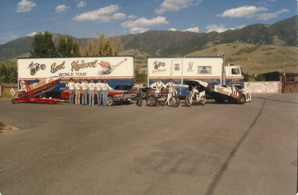 The Crew with the Evel Knievel Truck