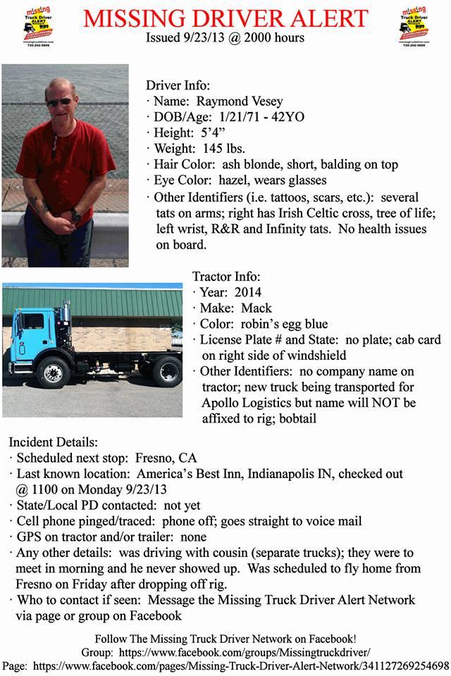 Missing Driver Alert